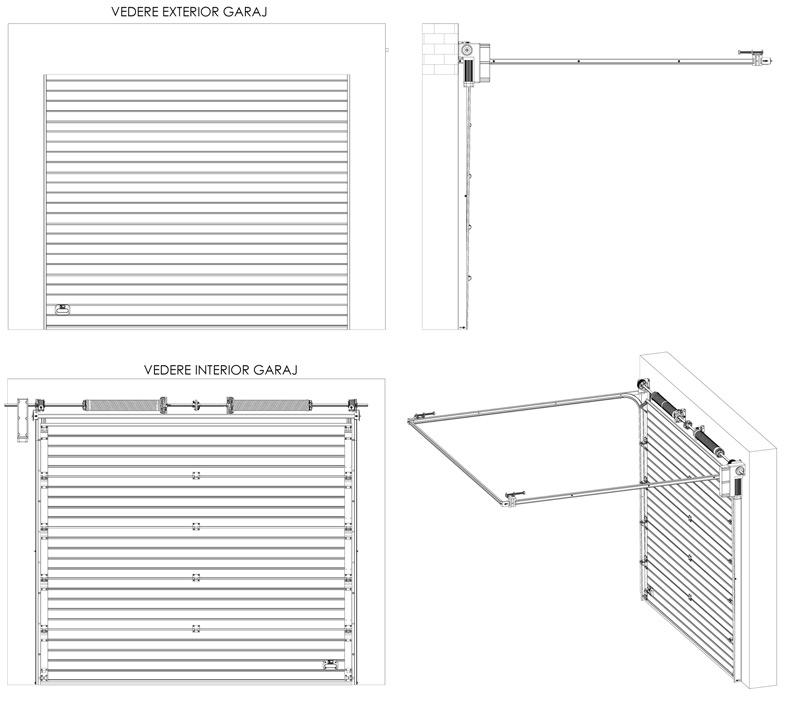 Portes sectionnelles industrielles - Porte de garage industrielle sectionnelle ...