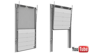 Portes sectionnelles industrielles for Porte lift and slide